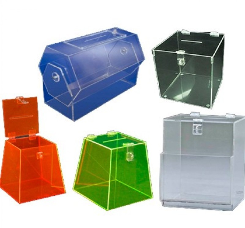 Urnas em acr lico fabricamos qualquer modelo 2 caixas for Piso acrilico transparente