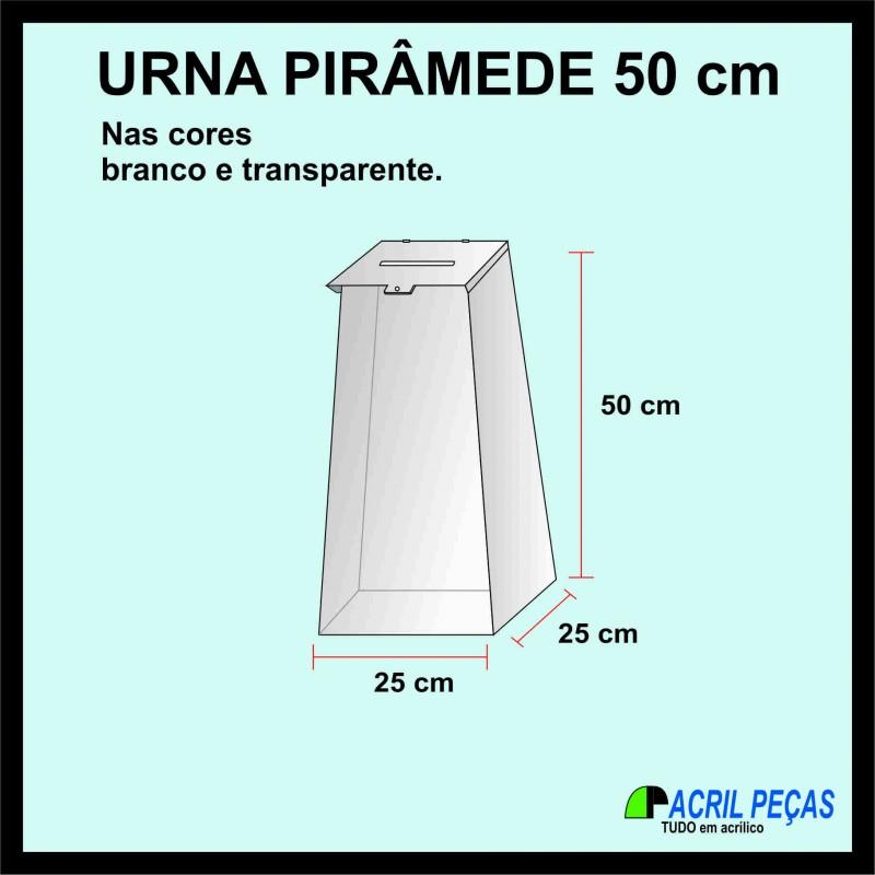 Urna acr lico 50cm gazofil cio 2 caixas urnas for Piso acrilico transparente